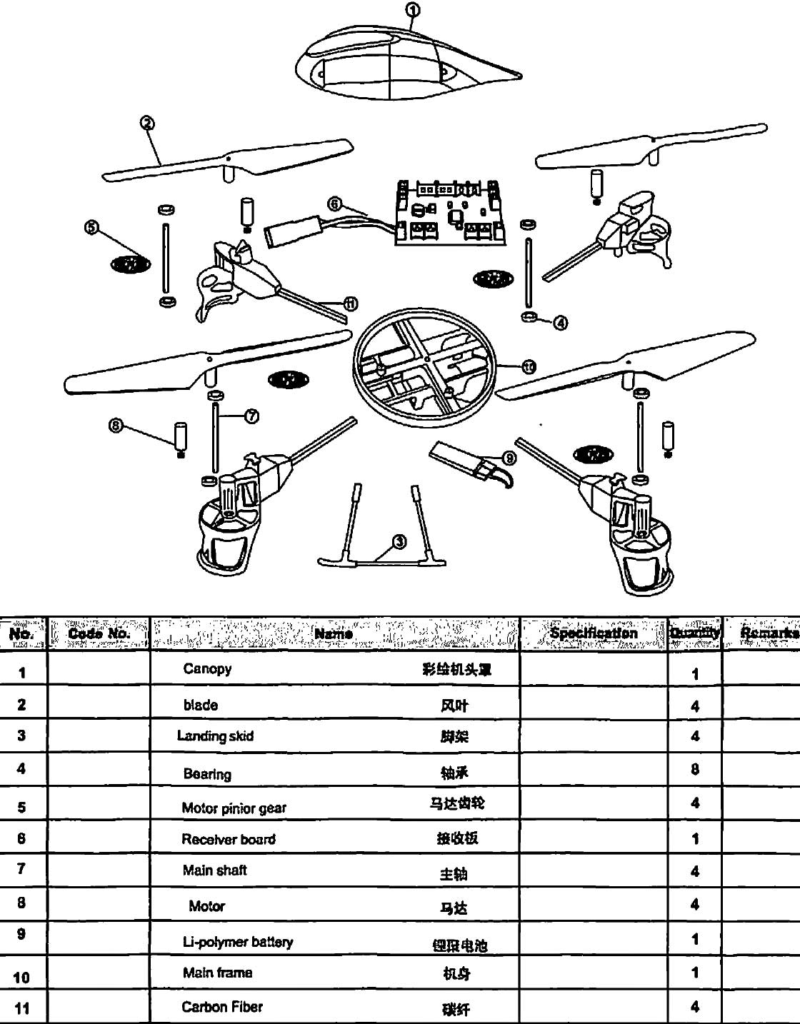 Quadcopter Wiring Configuration