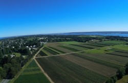 View from high above Portsmouth, RI