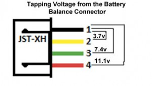 Voltages available for 3S Lipo Battery